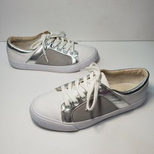 ASOS White and Silver Sneaker